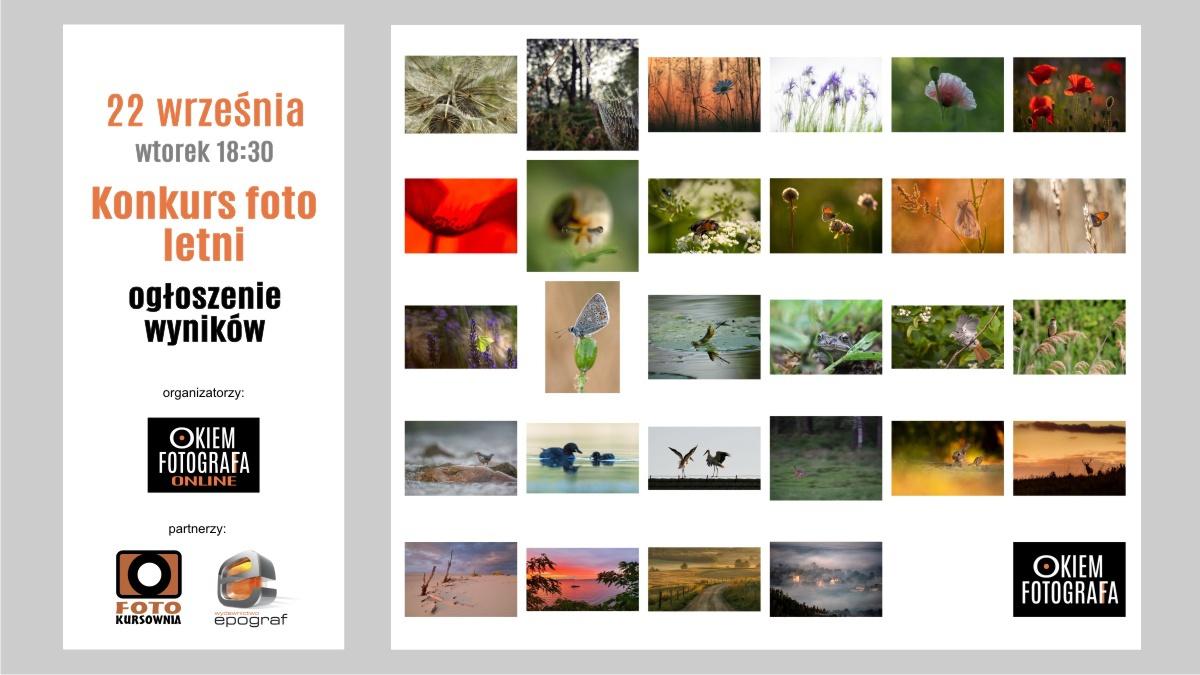 Ogłoszenie wyników w konkursie letnim Okiem Fotografa
